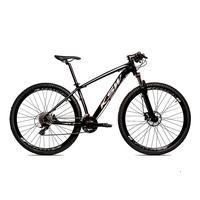 Bicicleta Aro 29 Ksw Cambios Gta 27 Vel Freio Disco Hidráulica E Trava - 17´´ - Preto/prata