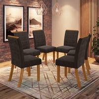 Conjunto 6 Cadeiras Estofadas Juanita Casa 812