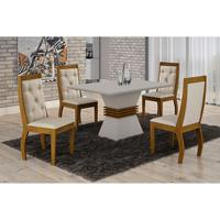 Sala De Jantar Lucy Com 4 Cadeiras Rufato