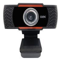 Webcam Lente Angular Usb 720p Oex W200 Com Microfone 2 Mpx