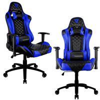 Kit 02 Cadeiras Gamer Office Giratória Com Elevação A Gás Tgc12 H01 Preto Azul - Thunderx3