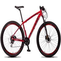 Bicicleta Aro 29 Dropp Rs1 Pro 24v Acera Freio Hidra E Trava - Vermelho/preto - 21'' - 21''