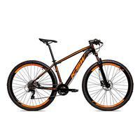 "Bicicleta Alum 29 Ksw Cambios Gta 27 Vel Freio Disco Hidráulica E Trava - 21"" - Preto/laranja Fosco"
