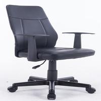 Cadeira De Escritório Diretor Pelegrin Pel-5611 Em Couro Pu Preta