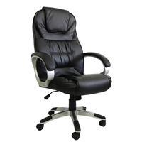 Cadeira Presidente em Couro Pu, Preta, Com Massagem e Aquecimento- Pel-c2652
