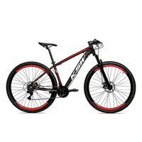 Bicicleta Alumínio Aro 29 Ksw 24 Velocidades Freio A Disco Krw16 - 19'' - Preto/vermelho