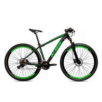 Bicicleta Alumínio Ksw Shimano Altus 24 Vel Freio Hidráulico E Suspensão Com Trava Krw18 - 19'' - Preto/verde Fosco