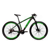 Bicicleta Alumínio Ksw Shimano Altus 24 Vel Freio Hidráulico E Cassete Krw19 - 17´´ - Preto/verde Fosco