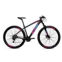 Bicicleta Alumínio Aro 29 Ksw Shimano Tz 24 Vel Ltx Krw20 - 21´´ - Preto/azul E Rosa