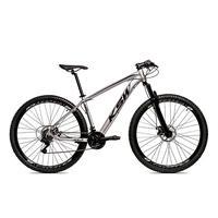 Bicicleta Alumínio Aro 29 Ksw 24 Velocidades Freio A Disco Krw16 - 19´´ - Prata/preto