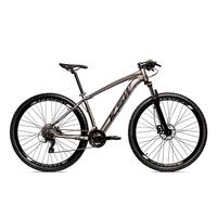 Bicicleta Alumínio Ksw Shimano Altus 24 Vel Freio Hidráulico E Suspensão Com Trava Krw18 - 21´´ - Grafite/preto Fosco