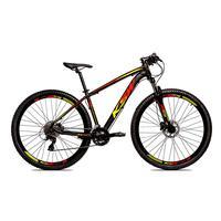 Bicicleta Alumínio Ksw Shimano Altus 24 Vel Freio Hidráulico E Cassete Krw19 - Preto/amarelo E Vermelho - 15.5´´