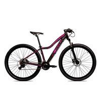 Bicicleta Alumínio Ksw Shimano Altus 24 Vel Freio Hidráulico E Cassete Krw19 - 15.5´´ - Preto/rosa
