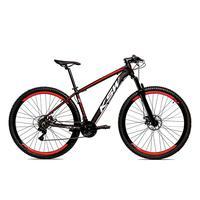 Bicicleta Alum 29 Ksw Cambios Gta 24 Vel A Disco Ltx - 21´´ - Preto/vermelho
