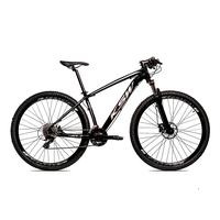 Bicicleta Alumínio Ksw Shimano Altus 24 Vel Freio Hidráulico E Suspensão Com Trava Krw18 - 17´´ - Preto/prata
