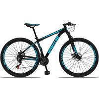 Bicicleta Aro 29 Spaceline Orion 21v Suspensão Freio A Disco - Preto/azul - 17´´ - 17´´