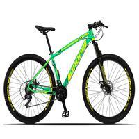 Bicicleta Aro 29 Dropp Z3x 21v Suspensão E Freio Disco - Verde/amarelo - 19''
