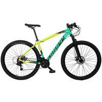 Bicicleta Aro 29 Dropp Z7x 21v Shimano, Suspen E Freio Disco - Amarelo/verde E Preto - 21´´ - 21´´