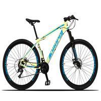 Bicicleta Aro 29 Dropp Z3x 21v Suspensão E Freio Disco - Bege/azul - 15''