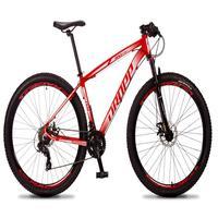 Bicicleta Aro 29 Dropp Rs1 Pro 21v Tourney Freio Disco/trava - Vermelho/branco - 17