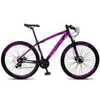 Bicicleta Aro 29 Spaceline Vega 21v Shimano E Freio A Disco - Preto/rosa - 15´´ - 15´´