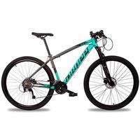 Bicicleta Aro 29 Dropp Z7x 27v Susp C/trava Freio Hidraulico - Cinza/verde E Preto - 17''