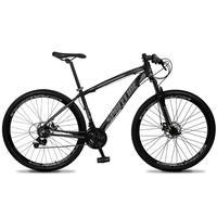 Bicicleta Aro 29 Spaceline Vega 21v Shimano E Freio A Disco - Preto/cinza - 17''