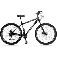 Bicicleta Aro 29 Dropp Sport 21v Garfo Rigido, Freio A Disco - Preto/cinza - 19''