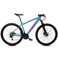 Bicicleta Aro 29 Dropp Z1x 21v Shimano, Susp E Freio A Disco - Azul/rosa - 15´´ - 15´´