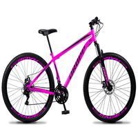 Bicicleta Aro 29 Dropp Sport 21v Suspensão E Freio A Disco - Rosa/preto - 17''