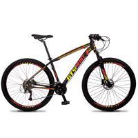 Bicicleta Aro 29 Gt Sprint Volcon 27v Susp E Freio Hidraulic - Preto/vermelho E Amarelo - 17´´ - 17´´
