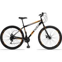 Bicicleta Aro 29 Gt Sprint Mx1. 21v Garfo Rigido Freio Disco - Preto/laranja E Branco - 17´´ - 17´´