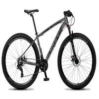 Bicicleta Aro 29 Dropp Rs1 Pro 21v Tourney Freio Disco/trava - Cinza/preto - 21