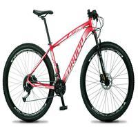 Bicicleta Aro 29 Dropp Rs1 Pro 27v Alivio, Fr. Hidra E Trava - Vermelho/branco - 15''