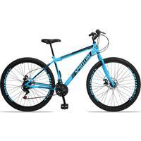 Bicicleta Aro 29 Spaceline Moon 21v Garfo Rigido Freio Disco - Azul/preto - 19''