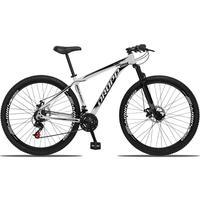 Bicicleta Aro 29 Dropp Aluminum 21v Suspensão, Freio A Disco - Branco/preto - 15