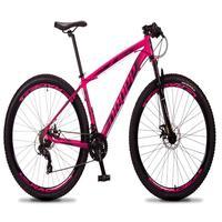 Bicicleta Aro 29 Dropp Rs1 Pro 21v Tourney Freio Disco/trava - Rosa/preto - 19