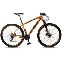 Bicicleta Aro 29 Spaceline Vega 27v Suspensão E Freio Hidral - Laranja/preto - 17''