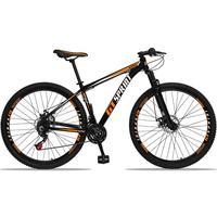 Bicicleta Aro 29 Gt Sprint Mx1 21v Suspensão E Freio A Disco - Preto/laranja E Branco - 17''