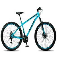 Bicicleta Aro 29 Dropp Sport 21v Suspensão E Freio A Disco - Azul/preto - 19