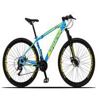 Bicicleta Aro 29 Dropp Z3x 21v Suspensão E Freio Disco - Azul/amarelo - 17