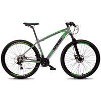 Bicicleta Aro 29 Gt Sprint Volcon 27v Susp E Freio Hidraulic - Cinza/verde E Preto - 19´´ - 19´´