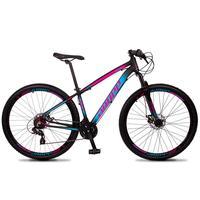 Bicicleta Aro 29 Dropp Z4x 24v Suspensão E Freio A Disco - Preto/azul E Rosa - 19´´ - 19´´