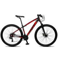 Bicicleta Aro 29 Dropp Z4x 24v Suspensão E Freio A Disco - Preto/vermelho - 19''