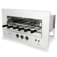 Assador A Gás Glp Rotativo De Embutir Hope Roast Premium 06 Espetos Bivolt 5003
