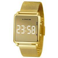 Relógio Lince Feminino Dourado Digital Mdg4619l Bxkx