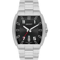 Relógio Orient Masculino Quadrado Prata Preto Gbss1054 P2sx