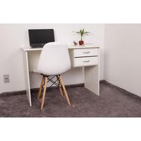 Kit Escrivaninha Com Gaveteiro Branca + 01 Cadeira Eiffel Botonê - Branca