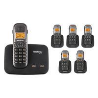 Kit Telefone 2 Linhas Ts 5150 + 5 Ramais Ts 5121 Intelbras