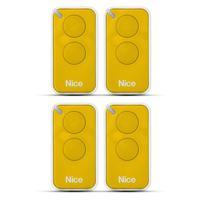 Kit 4 Controle Remoto 433,92 Mhz Rolling Code 2 Botões Era Inti Amarelo Linear Hcs - Nice